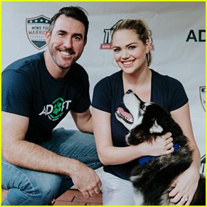 Kate Upton & Justin Verlander Host a Pet Adoption Event