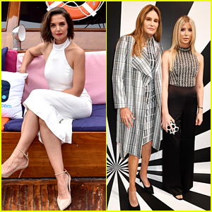 Katie Holmes & Caitlyn Jenner Attend alice + olivia Presentation On a Yacht!