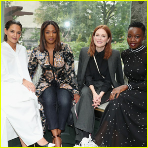 Julianne Moore Joins Katie Holmes, Danai Gurira & Tiffany Haddish at 'Tory Burch' NYFW Show