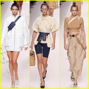 Kendall Jenner, Bella & Gigi Hadid Rock the Runway at Fendi Show During Milan Fashion Week!