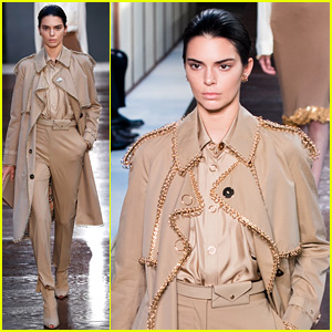 Kendall Jenner Returns to Modeling to Walk Burberry Runway