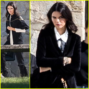 Kendall Jenner Shoots Fashion Campaign at Chantilly Castle in France