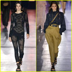 Kendall Jenner Goes Sheer For 'Alberta Ferretti' Milan Fashion Show