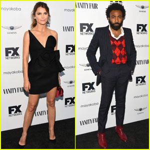 Keri Russell & Donald Glover Attend FX's Pre-Emmy Party!