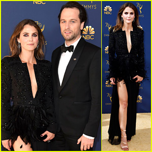 Keri Russell & Matthew Rhys Attend Final Emmys for 'The Americans'
