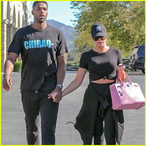 Khloe Kardashian & Tristan Thompson Go on a Movie Date!