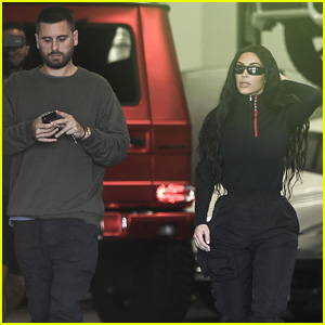 Kim Kardashian & Scott Disick Go Car Shopping in Calabasas