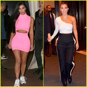 Kim & Kourtney Kardashian Dress Up for Dinner in New York!