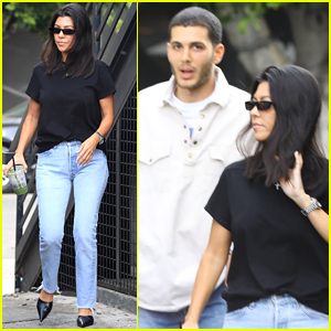 Kourtney Kardashian Hangs Out with Singer Fai Khadra in WeHo