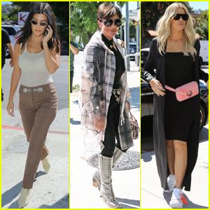 Khloe & Kourtney Kardashian Meet Mom Kris Jenner For Lunch at Petit Trois