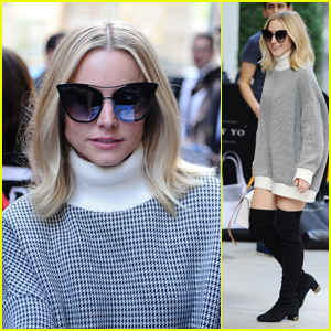 Kristen Bell Looks Chic Stepping Out in New York City