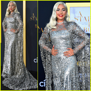 Lady Gaga Shimmers in Silver at 'A Star Is Born' Premiere in LA