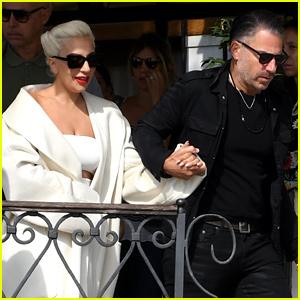 Lady Gaga & Boyfriend Christian Carino Depart Venice After Attending Film Festival