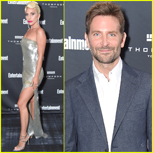 Lady Gaga Shines at EW Party Alongside Bradley Cooper