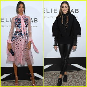 Elie Saab's Paris Show Brings Out Model Lais Ribeiro, Fashionista Olivia Palermo, & More!