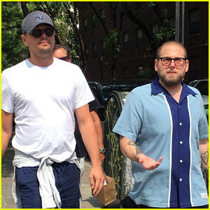 Leonardo DiCaprio & Jonah Hill Reunite for Lunch in NYC!