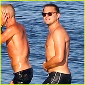 Leonardo DiCaprio Goes Shirtless for a Swim in Malibu