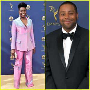 Leslie Jones & Kenan Thompson Get Glam on the Red Carpet at Emmy Awards 2018!