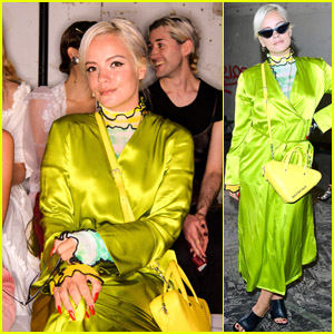 Lily Allen Attends Fashion East Show During London Fashion Week!