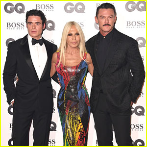 Luke Evans & Richard Madden Are Donatella Versace's Dates at GQ Men of the Year Awards