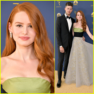 Riverdale's Madelaine Petsch & Travis Mills Couple Up For Emmy Awards 2018