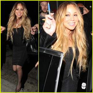 Mariah Carey Gets An Escort Inside Craig's Restaurant!