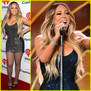 Mariah Carey Sparkles On the iHeartRadio Music Festival Red Carpet!