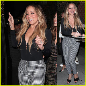 Mariah Carey Greets Fans After a Night Out at Mr. Chow!