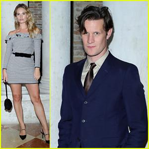 Matt Smith, Lily James, & More Stars Attend Miu Miu's Event at Venice Film Festival