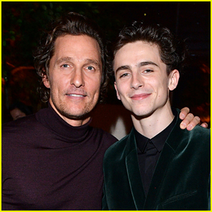 Timothee Chalamet & Matthew McConaughey Meet Up at TIFF's HFPA & InStyle Party!