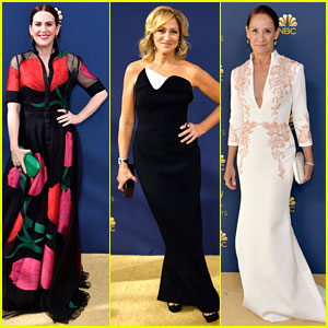 Nominees Megan Mullally, Edie Falco, & Laurie Metcalf Get Glam for Emmys 2018