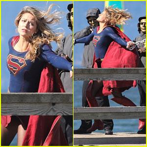 Melissa Benoist Films Intense 'Supergirl' Scenes With Masked Men