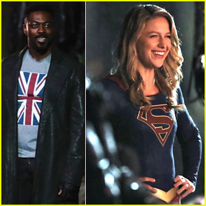 Melissa Benoist is All Smiles While Filming 'Supergirl' With David Ajala