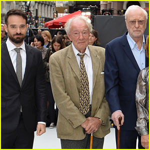 Michael Caine, Michael Gambon, & Charlie Cox Premiere 'King of Thieves' in London