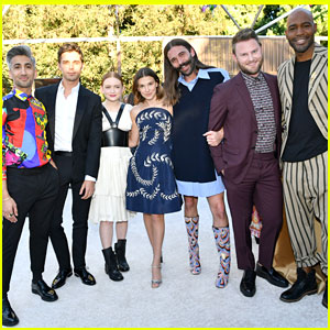 Millie Bobby Brown & Sadie Sink Meet 'Queer Eye' Guys at Netflix Pre-Emmys Party