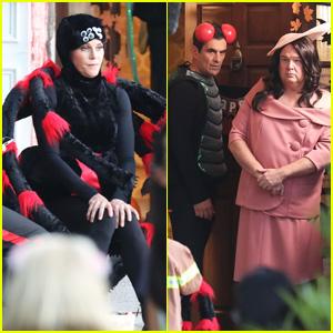 'Modern Family' Cast Films Halloween Special in LA!
