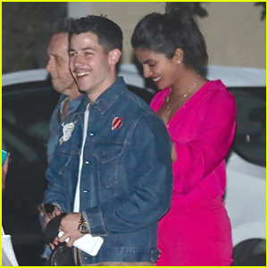 Nick Jonas Sports Mustache During Night Out with Priyanka Chopra!