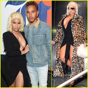 Nicki Minaj Joins Lewis Hamilton at His 'TommyXLewis' Launch Party!