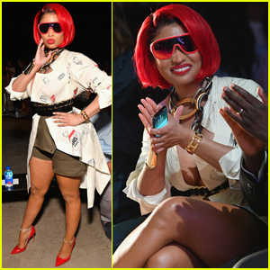 Nicki Minaj Rocks Red Hair During 'Monse' Fashion Show
