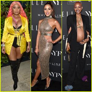Nicki Minaj Shows Off Hot Pink Hair at Elle's NYFW Party!