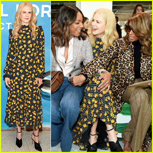 Nicole Kidman, Tiffany Haddish, & Iman Catch Up at Michael Kors Show!
