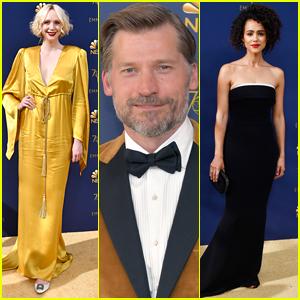 Nikolaj Coster-Waldau Joins Gwendoline Christie & Nathalie Emmanuel at Emmys 2018
