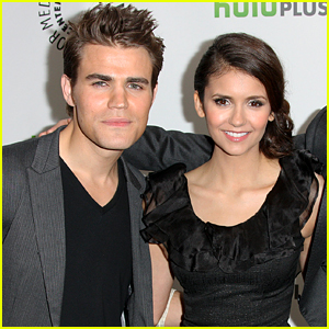 Paul Wesley Completely Surprises Nina Dobrev at 'Fam' Taping