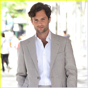 Penn Badgley Looks So Handsome Promoting His New Show in NYC