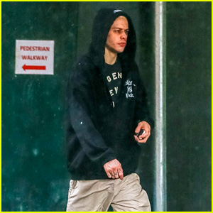 Pete Davidson Steps Out on a Rainy Day in New York City