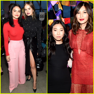 Crazy Rich Asians' Gemma Chan & Awkwafina Reunite at Prabal Gurung Show