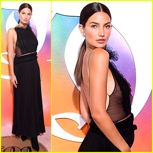 Pregnant Lily Aldridge Cradles Baby Bump at NYFW's Business of Fashion Event