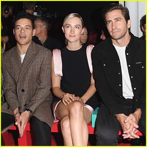 Rami Malek Hangs Out with Saoirse Ronan & Jake Gyllenhaal at Calvin Klein NYFW Show!