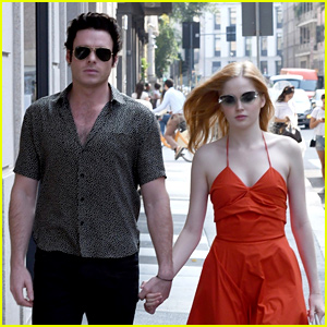 Richard Madden & Girlfriend Ellie Bamber Hold Hands During Milan Fashion Week!