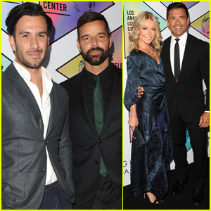 Ricky Martin & Jwan Yosef Join Kelly Ripa & Mark Consuelos at L.A. LGBT Center's Vanguard Awards!